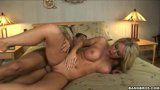 Awesome blondie Ahryan Astyn riding a cock