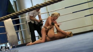 Aleska Diamond and Cristal May like to fight fully naked