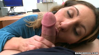 Devon James sucking a big dick after solo