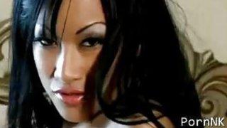 C.J. Miles, a Sexy asian porn star strip tease