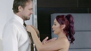 Bored wife Monique Alexander fucks her massage client