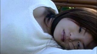 Stunning japanese model Yoko Matsugane poses on cam showing her seductive look