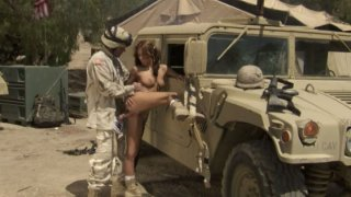Bitch for soldiers Kirsten Price does her best