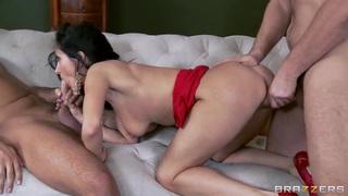 Strong Keiran Lee and Manuel Ferrara fuck the horny Ava Addams