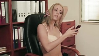 Hot blonde Christen Courtney has a crush on her boss Pablo