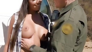 Hot and Sexy Smuggler Gets Caught And Made To Pay With Her Pussy