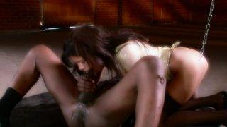 Bulky cock cums in Michelle Avanti elastic ass